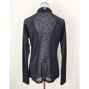 NWT Xersion Star Print Sheer Mesh Track Jacket